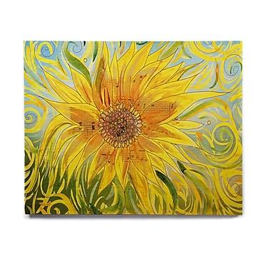 East Urban Home 'Sunflower Symphony' Graphic Art Print on Wood; 11'' H x 14'' W x 1'' D