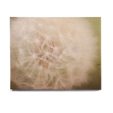 East Urban Home 'Dandelion' Graphic Art Print on Wood; 8'' H x 10'' W x 1'' D