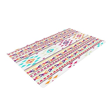East Urban Home Nika Martinez Aylen Tribal Pink/Blue Area Rug; 4' x 6'