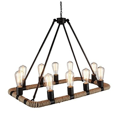 Union Rustic Farley 10-Light Candle-Style Chandelier