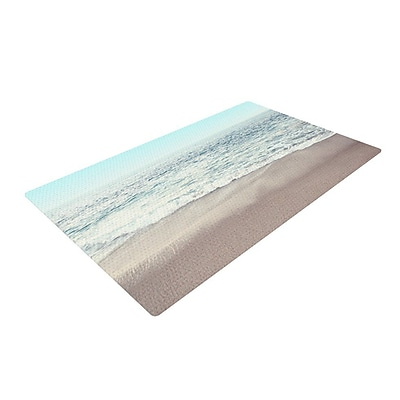 East Urban Home Monika Strigel The Sea Coastal Blue Area Rug; 2' x 3'