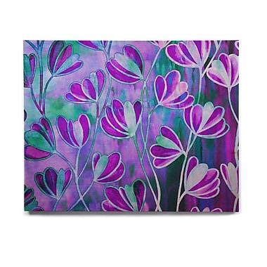 East Urban Home 'Efflorescence - Lavender Blue' Graphic Art Print on Wood; 8'' H x 10'' W x 1'' D