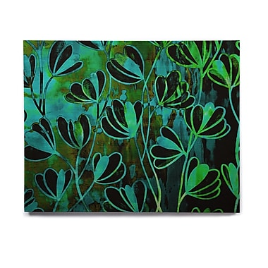 East Urban Home 'Efflorescence - Lime Green' Graphic Art Print on Wood; 16'' H x 20'' W x 1'' D