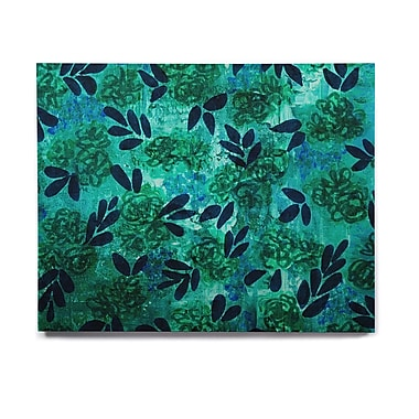 East Urban Home Floral 'Grunge Flowers III' Graphic Art Print on Wood; 20'' H x 24'' W x 1'' D