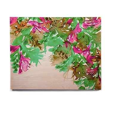 East Urban Home 'Floral Cascade 6' Graphic Art Print on Wood; 20'' H x 24'' W x 1'' D