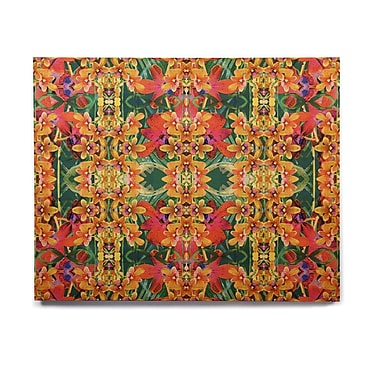 East Urban Home 'Tropical Floral' Graphic Art Print on Wood; 20'' H x 24'' W x 1'' D