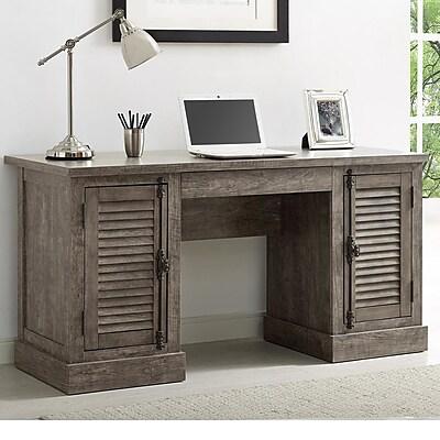 Gracie Oaks Cranbury Executive Desk Staples