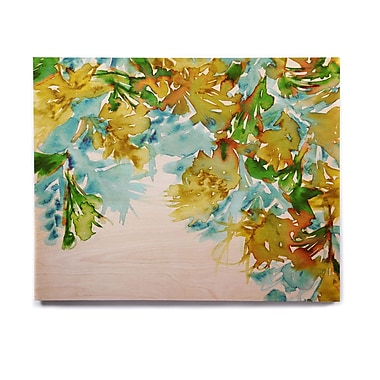 East Urban Home 'Floral Cascade 9' Graphic Art Print on Wood; 8'' H x 10'' W x 1'' D