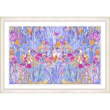 Latitude Run 'Pastel Spring Garden Bloom' Framed Painting Print; White