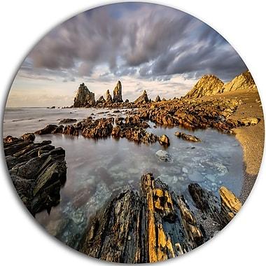 DesignArt 'Atlantic Coast in Spain' Photographic Print on Metal; 23'' H x 23'' W x 1'' D