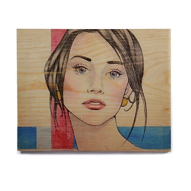 East Urban Home 'Face' Graphic Art Print on Wood; 16'' H x 20'' W x 1'' D