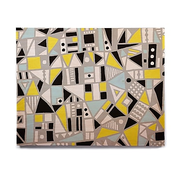 East Urban Home 'Fun Geo Too' Graphic Art Print on Wood