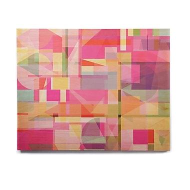 East Urban Home Geometric 'Paku' Graphic Art Print on Wood; 20'' H x 24'' W x 1'' D
