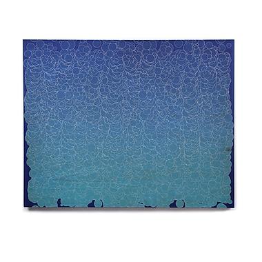 East Urban Home 'Bubbling Blue' Graphic Art Print on Wood; 16'' H x 20'' W x 1'' D