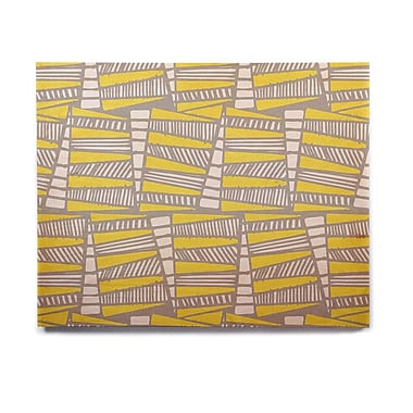 East Urban Home 'Jaggi Yellow Grey' Graphic Art Print on Wood; 16'' H x 20'' W x 1'' D