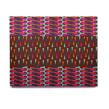 East Urban Home 'Abstract Triangle Pattern' Graphic Art Print on Wood