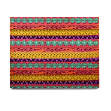 East Urban Home 'Pattern Watercolor Colorful' Graphic Art Print on Wood; 20'' H x 24'' W x 1'' D
