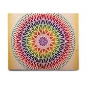 East Urban Home Rainbow Geometric 'Colorful Vibrant Mandala' Graphic Art Print on Wood
