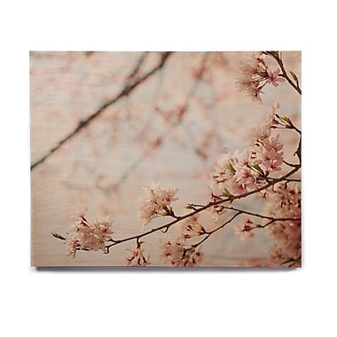 East Urban Home 'Japanese Cherry Blossom' Photographic Print on Wood; 8'' H x 10'' W x 1'' D