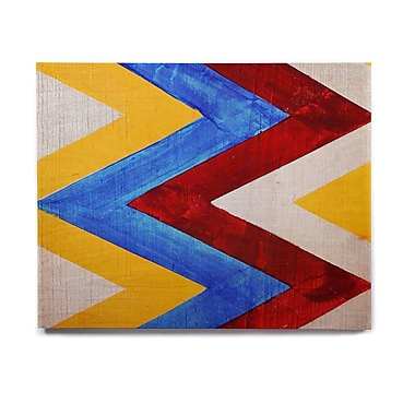 East Urban Home 'Zig Zag' Graphic Art Print on Wood