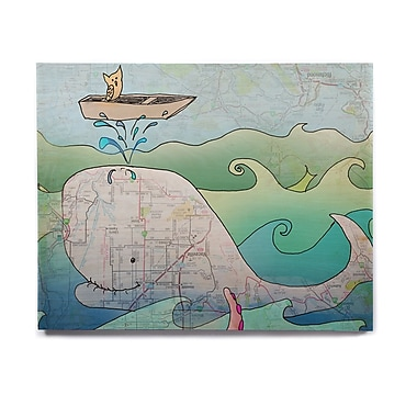 East Urban Home 'I'm on a Boat' Graphic Art Print on Wood; 11'' H x 14'' W x 1'' D