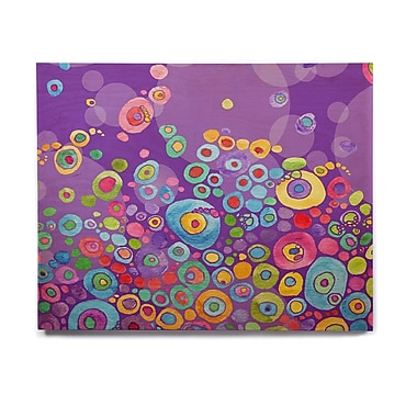 East Urban Home 'Inner Circle Purple' Graphic Art Print on Wood; 16'' H x 20'' W x 1'' D