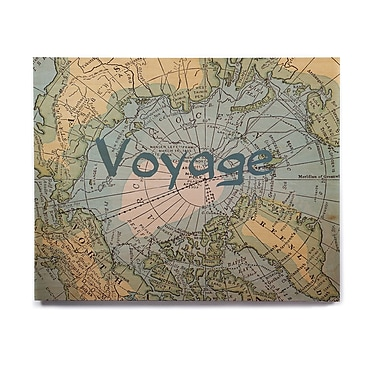 East Urban Home Map 'Voyage' Graphic Art Print on Wood; 16'' H x 20'' W x 1'' D