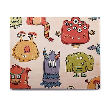 East Urban Home 'Little Monsters' Graphic Art Print on Wood