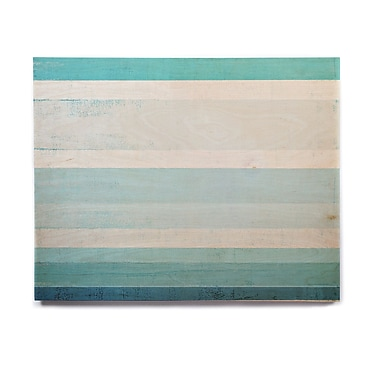 East Urban Home 'Waves' Graphic Art Print on Wood; 20'' H x 24'' W x 1'' D