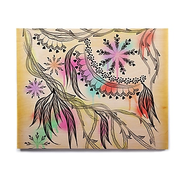 East Urban Home 'Birds World' Graphic Art Print on Wood; 8'' H x 10'' W x 1'' D