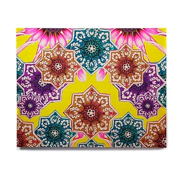 East Urban Home Floral 'Flower Power' Graphic Art Print on Wood; 8'' H x 10'' W x 1'' D