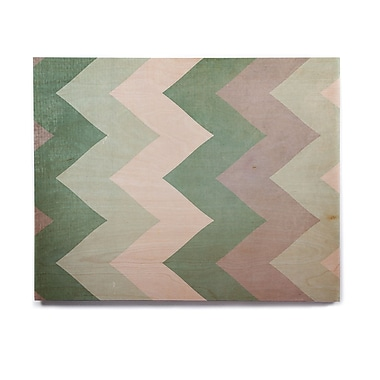 East Urban Home 'Winter Green' Graphic Art Print on Wood; 8'' H x 10'' W x 1'' D
