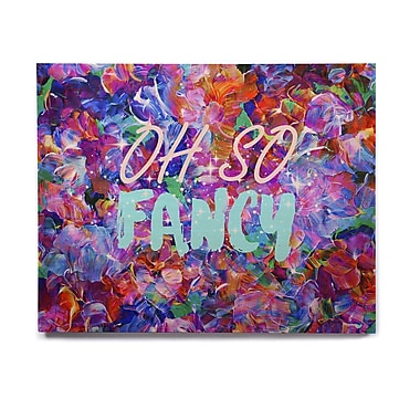 East Urban Home 'Oh So Fancy' Graphic Art Print on Wood; 20'' H x 24'' W x 1'' D