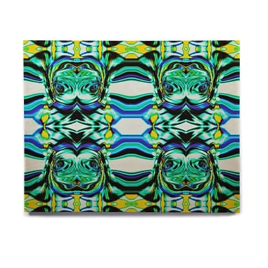 East Urban Home Abstract 'Inspired By Psychedelic Art 5' Graphic Art Print on Wood