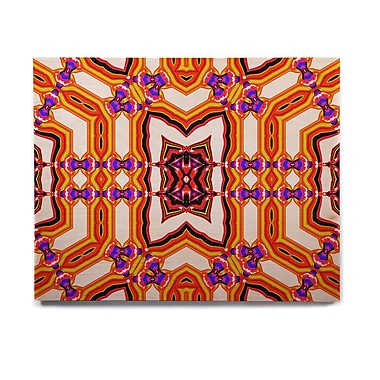 East Urban Home Abstract 'Inspired By Psychedelic Art 4' Graphic Art Print on Wood