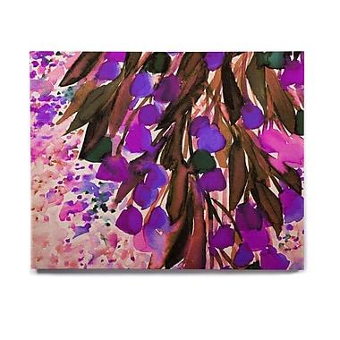 East Urban Home 'Botanical Regency, Purple' Graphic Art Print on Wood; 11'' H x 14'' W x 1'' D