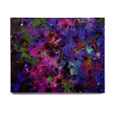 East Urban Home Celestial 'Color Me Floral' Graphic Art Print on Wood; 16'' H x 20'' W x 1'' D