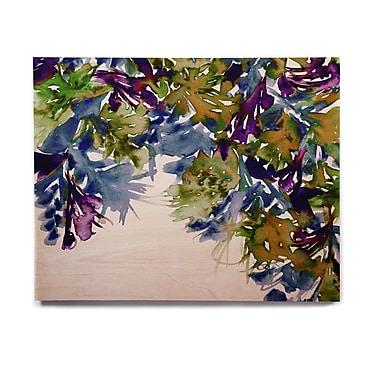 East Urban Home 'Floral Cascade 4' Graphic Art Print on Wood; 8'' H x 10'' W x 1'' D