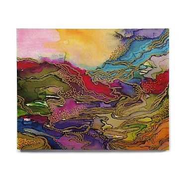 East Urban Home 'Bring On Bohemia 4, Rainbow' Graphic Art Print on Wood; 8'' H x 10'' W x 1'' D