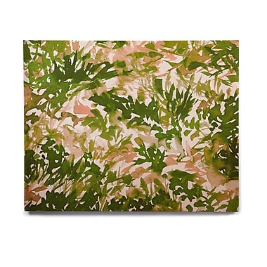 East Urban Home 'In The Meadow 2 - Green Pink' Graphic Art Print on Wood; 8'' H x 10'' W x 1'' D