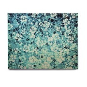East Urban Home 'Flower Power in Blue' Graphic Art Print on Wood; 20'' H x 24'' W x 1'' D