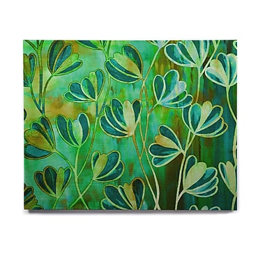 East Urban Home 'Effloresence - Blue Green' Graphic Art Print on Wood