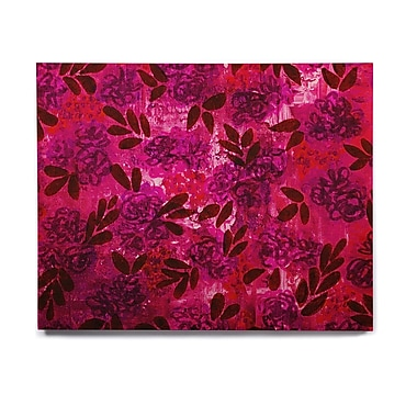 East Urban Home 'Grunge Flowers IV' Graphic Art Print on Wood; 8'' H x 10'' W x 1'' D