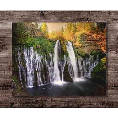 Loon Peak 'Burney Falls' Photographic Print on Wood; 11'' H x 14'' W