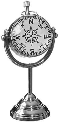Longshore Tides Globe Stand Tabletop Clock