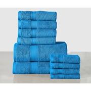 Anew Edit 10 Piece Towel Set; Sea Blue