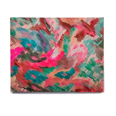 East Urban Home 'Giverny Pink' Graphic Art Print on Wood; 20'' H x 24'' W x 1'' D