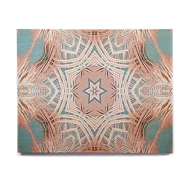 East Urban Home 'Tribe Coral And Teal ' Graphic Art Print on Wood