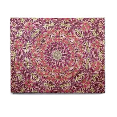 East Urban Home Digital 'Gypsy Medallion Purple' Graphic Art Print on Wood; 16'' H x 20'' W x 1'' D