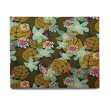 East Urban Home Tropical Floral 'Green Tropical' Graphic Art Print on Wood